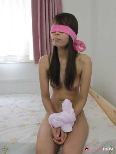Blindfolded Japanese girl..