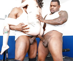 Interracial groupsex..