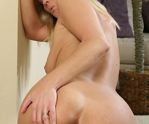 Bosomy blonde MILF with..