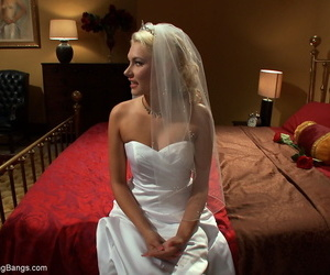 Blonde bride Katie Summers..