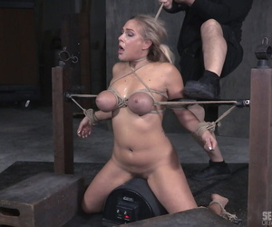 Blonde slave Angel Allwood..