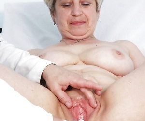 Chubby mature blonde with..