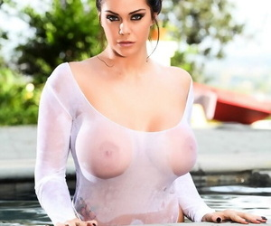 Busty Alison Tyler poses in..