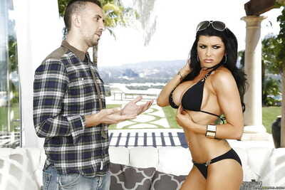 Dark-haired chick Romi Rain..