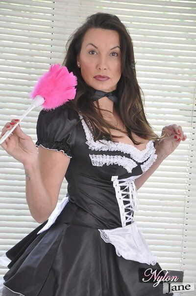 Busty mature maid in uniform..