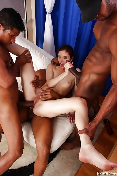 Gorgeous interracial anal..