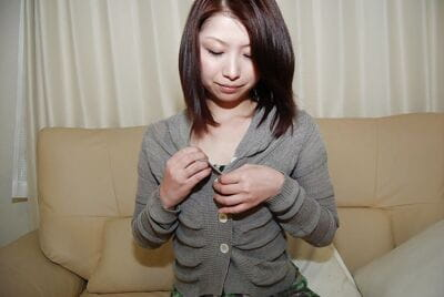 Playful asian babe strips..