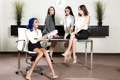 Leggy secretaries unleash..