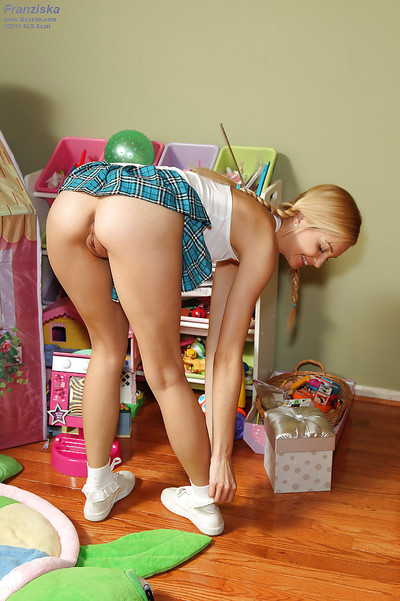 Slim amateur blond with..