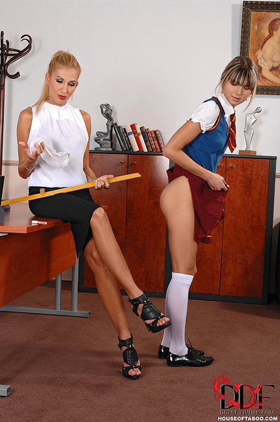 Schoolgirl spinner caught..