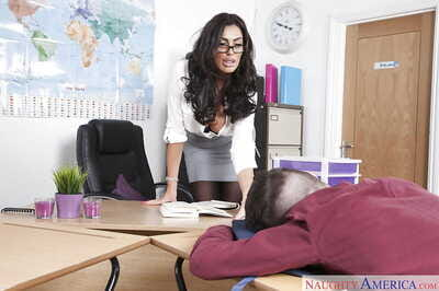 Latina teacher Ava Koxxx..