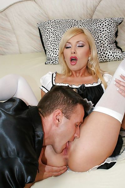 Slutty maid has some pussy..