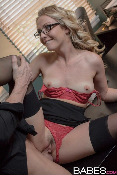 Office blonde gets dicked in..